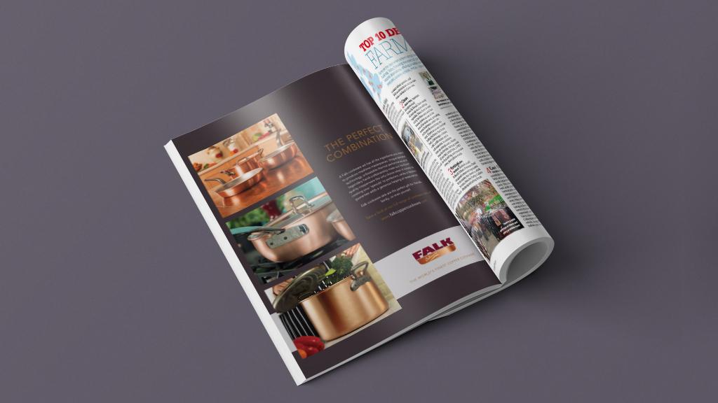 FALK magazine advert design